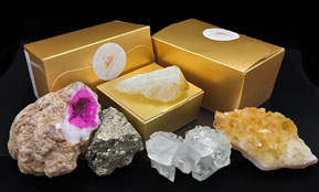Crystals in Gift Boxes