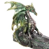 Green Dragon Boat Incense Holder