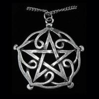 Pewter Celtic Sorcery Pentagram Pendant