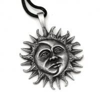 Pewter Sun & Moon Pendant