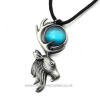 Moon Stag Pewter Pendant