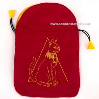 Bast Cat satin Tarot Bag