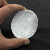 Selenite Massage Palm Stones 6cm