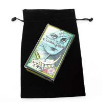 Large Black Velour Bag 24cm Long
