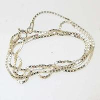 Sterling Silver Medium Box Chain 18inch