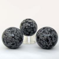 Obsidian Snowflake Sphere 40mm