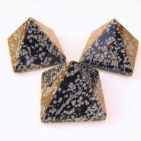 Snowflake Obsidian Pyramids 4cm
