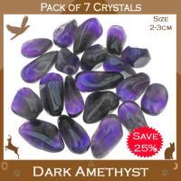 Pack of 7 Dark Amethyst Tumble Stones