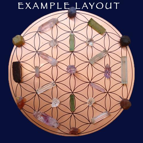 Copper Mandala Healing with sapphire 1 38