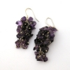 Amethyst Grape Earrings
