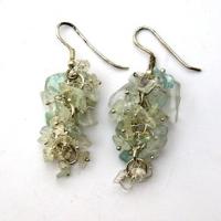 Aquamarine Grape Earrings