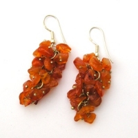 Carnelian Grape Earrings