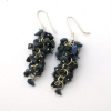 Lapis Grape Earrings