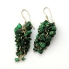 Malachite Grape Earrings