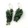 Malachite Grape Earrings