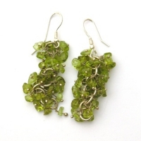 Peridot Grape Earrings