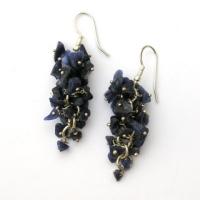 Sodalite Grape Earrings