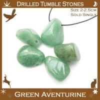 Side Drilled Aventruine Tumbled Stones