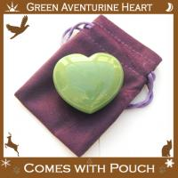 Green Aventurine Puff Heart