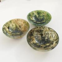 Green Moss Agate Crystal Gem Bowl