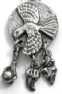Animal Spirit & Indian Pewter Pendants