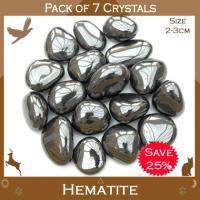 Pack of 7 Hematite Tumble Stones