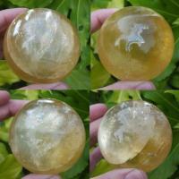 Golden Calcite Sphere 66mm, No6
