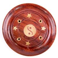 Yin Yang Round Ash Catcher Incense Holder