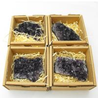 Deep Amethyst Cluster Specimen in Gift Box