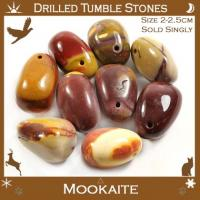 Side Drilled Mookaite Tumble Stones