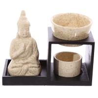 Tiered Buddha Oil Burner - Cream