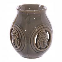 Buddha Oil Burner - Brown