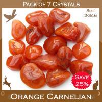 Pack of 7 Carnelian Tumble Stones