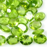 Faceted Peridot Oval Gemstone 9x7mm