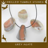 Side Drilled Pink Agate Tumble Stones