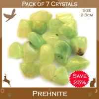 Pack of 7 Prehnite Tumble Stone Crystals