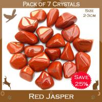 Pack of 7 Red Jasper Tumble Stones