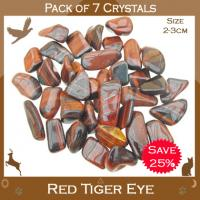 Pack of 7 Red Tiger Eye Tumble Stones