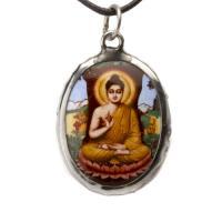 Siddharta Bubbha Enamel Pendant