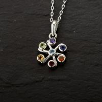 Gemstone Chakra Flower Pendant