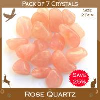 Pack of 7 Rose Quartz Tumble Stones
