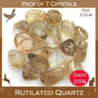 Pack of 7 Rutilated Quartz Tumble Stones