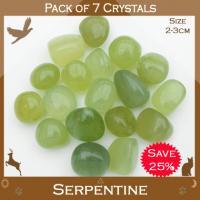 Pack of 7 Serpentine Tumble Stones
