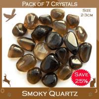 Pack of 7 Smoky Quartz Tumble Stones