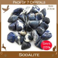 Pack of 7 Sodalite Tumble Stone Crystals
