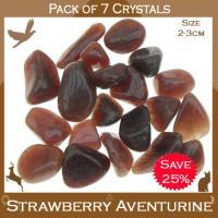 Pack of 7 Aventurine Strawberry Tumbles Stones