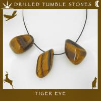 Side Drilled Tiger Eye Tumbled Stones