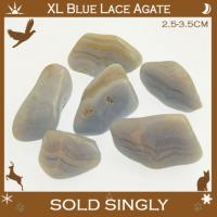 Extra Large Blue Lace Agate Tumbled Stones