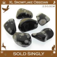 Extra Large Snowflake Obsidian Tumbled Stones