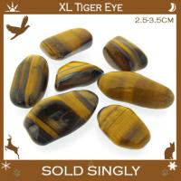 Extra Large Gold Tiger Eye Tumble Stones